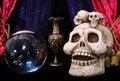 Skull and Crystal Ball