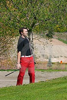 Male Golfer Stock Photo - Image: 14400590