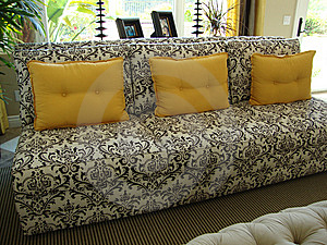 Beautiful Black And White Couch/Sofa Royalty Free Stock Photo - Image: 14401815