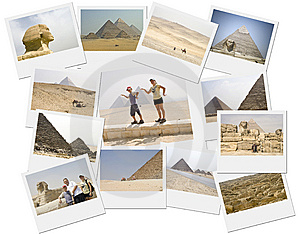 Pyramid Collage Stock Image - Image: 14403971
