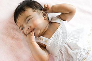 Portrait Of Unhappy Indian Baby Royalty Free Stock Images - Image: 14404039