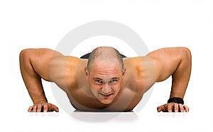 Spotsman Doing Push-ups Stock Image - Image: 14404701
