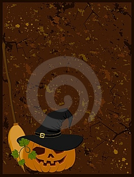 Face Of Pumpkin In Hat Stock Photos - Image: 14407253