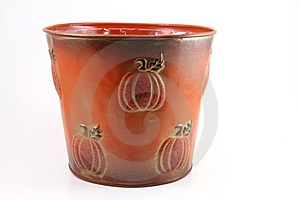 Pumpkin Bucket Royalty Free Stock Photography - Image: 14407727