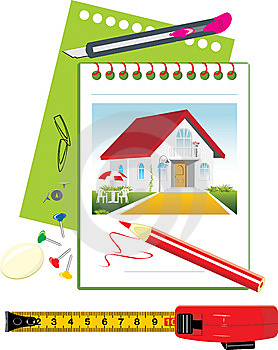 Project Of Stylish Private House Royalty Free Stock Images - Image: 14408439