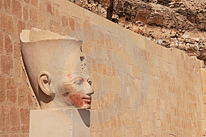 Stone Pharaoh's Head Stock Photo - Image: 14408460