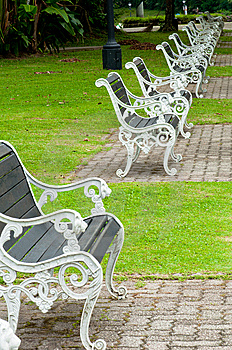 Benches In A Park Stock Photography - Image: 14409122
