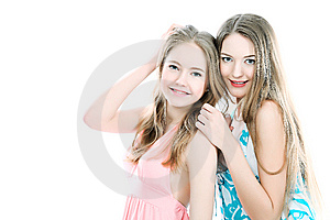 Sisters Royalty Free Stock Images - Image: 14411469