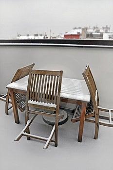 Winter Prague Terrace Stock Image - Image: 14413741