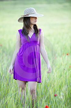 Hidding Behind Her Hat Royalty Free Stock Photo - Image: 14414105