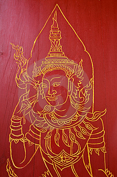 Thai Painting Stock Photo - Image: 14414160