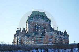 Chateau Frontenac, Quebec City, Canada Royalty Free Stock Image - Image: 14414256