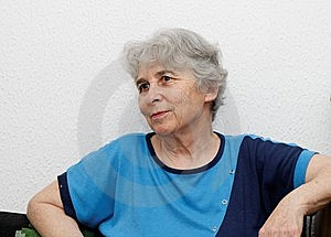 Relaxed Elderly Woman Resting Royalty Free Stock Photography - Image: 14415357