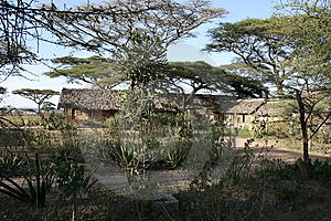 Africa Tanzania View Of The Lodge Royalty Free Stock Images - Image: 14416719