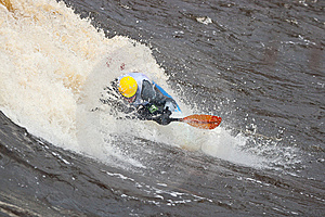 Freestyle On Whitewater Stock Images - Image: 14417944