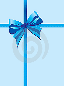 Blue Package Ribbon Royalty Free Stock Images - Image: 14418489