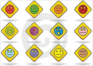 Set Of Emoticon Royalty Free Stock Photos - Image: 14418938