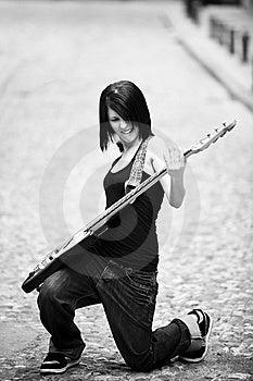 Guitarrista Alegre Imagem de Stock Royalty Free - Imagem: 14423136