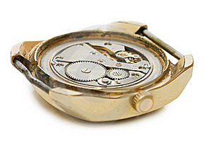 The Mechanism Of Old Clock Royalty Free Stock Photos - Image: 14424188