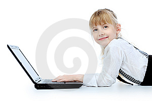 Studing Girl Royalty Free Stock Image - Image: 14425386