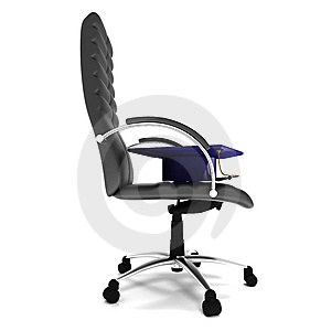 Bachelor's Hat In Office Chair Royalty Free Stock Image - Image: 14425566