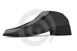 Man's Black Shoe Royalty Free Stock Photo - Image: 14425675