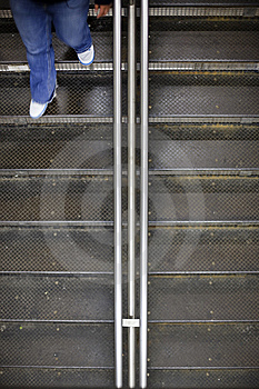Walking Down The Steps Royalty Free Stock Images - Image: 14425829