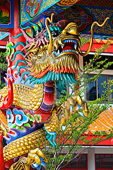 Golden Dragon Stock Photo - Image: 14427330