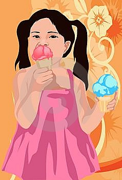 Two Ice Creams Are Enough For Me Royalty Free Stock Photo - Image: 14428085