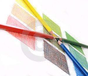Color Mix, Pencils Stock Images - Image: 14429284