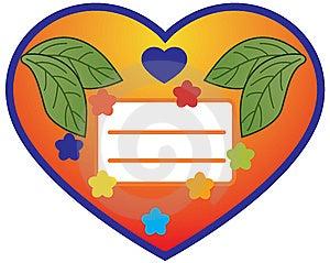Orange Heart Stock Photography - Image: 14433082