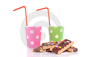 Drinking Cups With Straws Stock Images - Image: 14433524