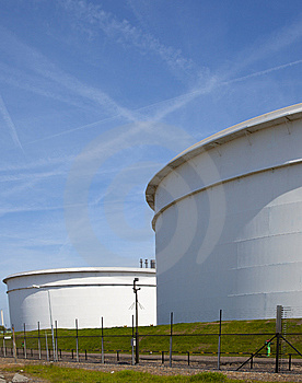 Oil Tanks Stock Photo - Image: 14435310