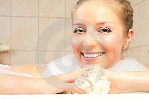 Woman In Bath Royalty Free Stock Photography - Image: 14435377