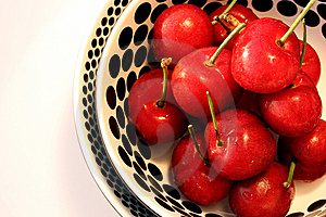 Bowl Of Cherries Royalty Free Stock Photos - Image: 14435998