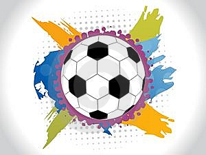 Abstract Colorfull Football Background Royalty Free Stock Photo - Image: 14436125