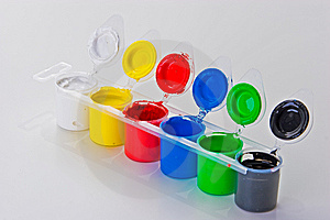 Paint Cans Stock Image - Image: 14437111