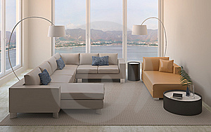Modern Interior Of Living-room. Royalty Free Stock Photo - Image: 14437435