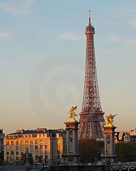 Eiffel Tower At Dawn, Paris, France Royalty Free Stock Image - Image: 14437656