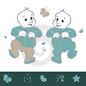 Twin Baby Stock Photos - Image: 14438133