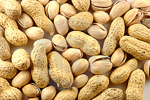 Peanut And Pistachio Background Royalty Free Stock Photography - Image: 14439387