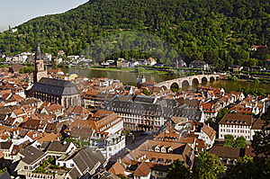 Heidelberg - Old Town, View From Above Royalty Free Stock Photo - Image: 14439475
