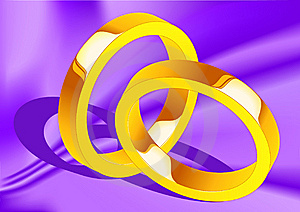 Wedding Rings On Silk Stock Images - Image: 14439624
