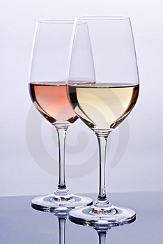 Wineglasses Filled With Colorful Wine Royalty Free Stock Photos - Image: 14440388