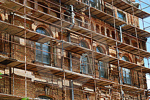 Scaffolds Round Stock Photography - Image: 14440482