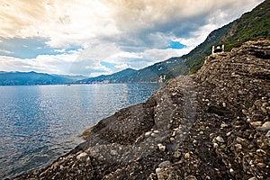 Italian Riviera Coastal View Stock Photo - Image: 14441560