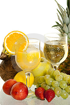 Various Fruit Cocktails Royalty Free Stock Image - Image: 14442546