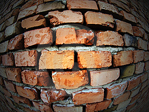 Distorted Old Brick Wall Stock Images - Image: 14442584