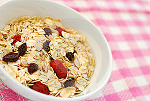 Nutritious Oatmeal For Breakfast Royalty Free Stock Photography - Image: 14443287