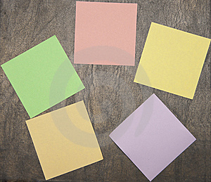 Colourful Notes On The Dark Background Stock Photos - Image: 14444653